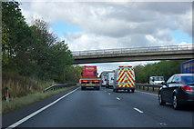 SK7568 : Bridge over A1 by Robin Webster