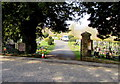 SO6554 : Main entrance to Bromyard Cemetery by Jaggery