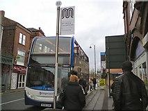SJ9495 : Temporary Bus Stop EE by Gerald England