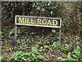 TM2587 : Mill Road sign by Geographer