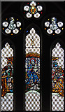 TQ2976 : Christ Church, Union Grove - Stained glass window by John Salmon