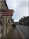 SK1482 : The A6187 passes through Castleton village by Steve  Fareham