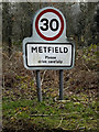 TM2980 : Metfield Village Name sign by Adrian Cable