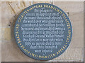SE1633 : Bradford Cathedral: plaque to fire victims by Stephen Craven
