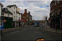 TQ1980 : View down Acton High Street from the Gunnersbury Lane junction by Christopher Hilton