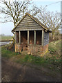 TM3271 : Bus Shelter off the B1117 Halesworth Road by Geographer