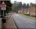 SN6212 : Ysgol/School bilingual sign, Station Road, Ammanford by Jaggery