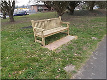 TM3864 : Seat on the B1121 Main Road by Adrian Cable