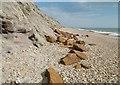 SZ1790 : Hengistbury Head, ironstone by Mike Faherty