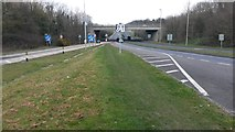 SU5707 : A32 passing under M27 at Junction 10 by David Martin