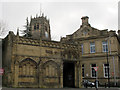 SE1633 : Bottom entrance to Bradford Cathedral by Stephen Craven