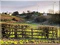 SD8210 : Farmland near the M66 by David Dixon