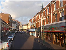 SZ0991 : Bournemouth: a bus passenger's view along Old Christchurch Road by Chris Downer