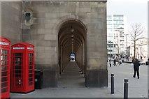 SJ8397 : Arches under Manchester Town Hall Extension by Matt Harrop
