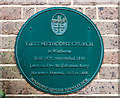 SZ0099 : No. 1 (of 12) the Green Plaques of Wimborne - first Wesleyan Methodist Church by Mike Searle