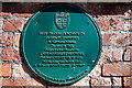 SZ0099 : No. 2 (of 12) the Green Plaques of Wimborne - the old Free Grammar School by Mike Searle