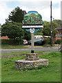 TF8635 : South Creake village sign by Adrian S Pye
