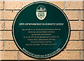 SZ0199 : No. 12 (of 12) the Green Plaques of Wimborne - site of Wimborne Railway Station by Mike Searle