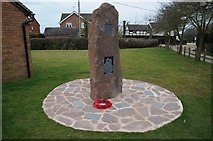 SO6729 : New war memorial in Kempley by Philip Halling