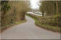 SO6928 : Country road and M50 near Dymock by Philip Halling
