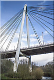 NO2601 : River Leven suspension bridge, Glenrothes by William Starkey