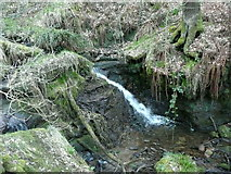 SE0722 : Waterfall over shale, Maple Dean Clough by Humphrey Bolton