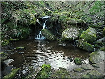 SE0722 : Waterfall and pool on Maple Dean Clough by Humphrey Bolton