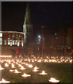 SK5804 : Jubilee Square and Leicester Cathedral by Mat Fascione