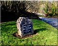 ST1281 : Morganstown Village Millennium Stone, Cardiff by Jaggery