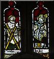 TQ5202 : Medieval glass, St Andrew's church, Alfriston by Julian P Guffogg