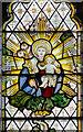 TQ5202 : Detail of Kempe window, St Andrew's church, Alfriston by Julian P Guffogg