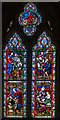 TQ4707 : Stained glass window, St Peter's church, Firle by Julian P Guffogg