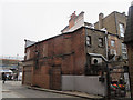 TQ3175 : Beehive Place, Brixton: back of a brewery by Stephen Craven