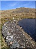 SN7987 : Llyn Llygad Rheidol dam by Rudi Winter