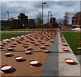 SK5804 : 'Candles' at Jubilee Square by Mat Fascione