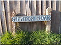 SY9499 : Sturminster Marshall: a Newton Road sign by Chris Downer