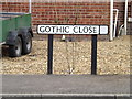 TM2482 : Gothic Close sign by Adrian Cable