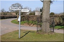 SO6631 : Road junction in Kempley by Philip Halling