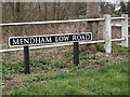 TM2482 : Mendham Low Road sign by Adrian Cable