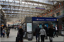 TQ3179 : Entrance to the Underground in Waterloo Station by Mike Pennington