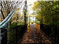 ST6071 : Southern end of a suspension river footbridge, Bristol by Jaggery