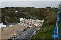 SW8162 : Beach Huts at Tolcarne Beach, Newquay by Ian S