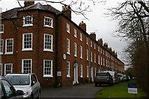 SJ6552 : Nantwich: Dysart Buildings, Monks Lane by Christopher Hilton