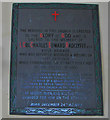 TG1435 : War Memorial plaque above the reredos at Barningham Winter by Adrian S Pye