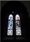 NY2623 : Keswick St John: stained glass window  (3) by Basher Eyre