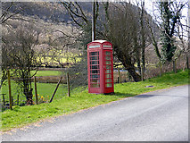 SN7079 : Cwm Rheidol telephone kiosk by John Lucas
