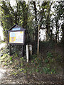 TG1902 : St Mary's Church Notice Board by Adrian Cable