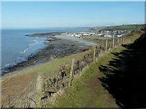 SN4562 : Aberaeron from the Ceredigion coastal path by John Baker