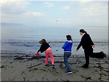 D3115 : Skimming stones, Glenarm by Kenneth  Allen