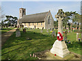 TG3200 : The War Memorial and church at Thurton by Adrian S Pye